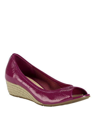 COLE HAANAir Tali Patent Leather Wedges