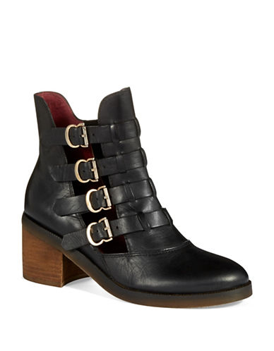LATIGO Mila Buckle Accented Ankle Boots