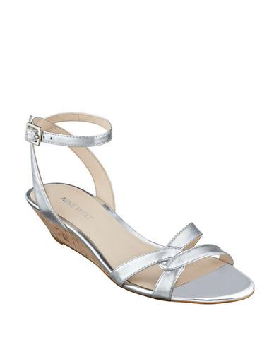 Nine West Valaria Leather Wedge Sandals