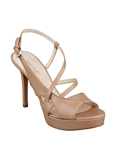 NINE WESTSotrue High-Heel Leather Sandals