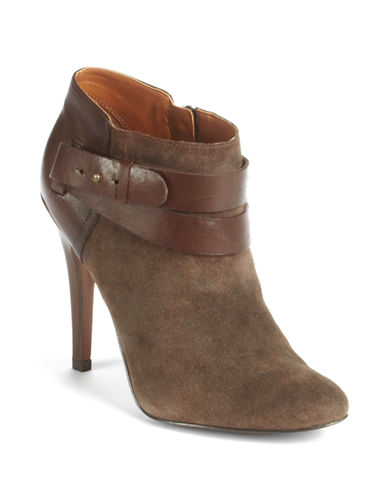 NINE WEST Brettly Leather Ankle Boots