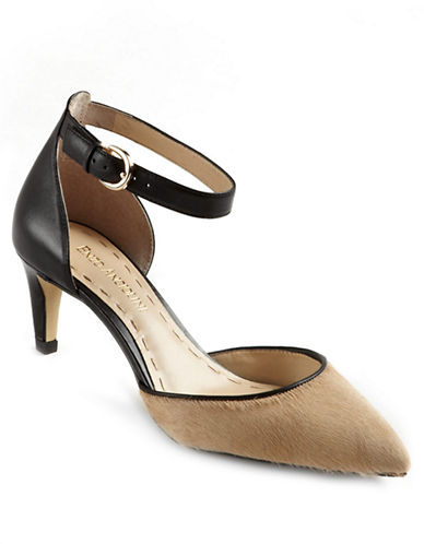 ENZO ANGIOLINI Crystani Leather Ankle-Strap Pumps