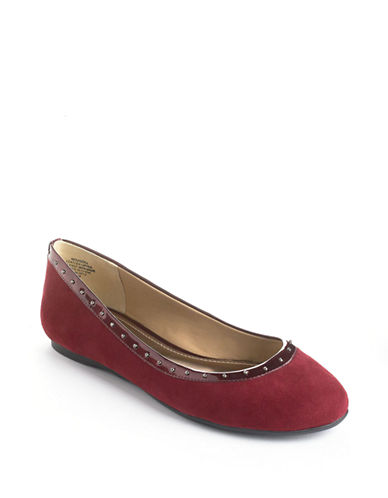 ANNE KLEIN Xandra Leather Flats