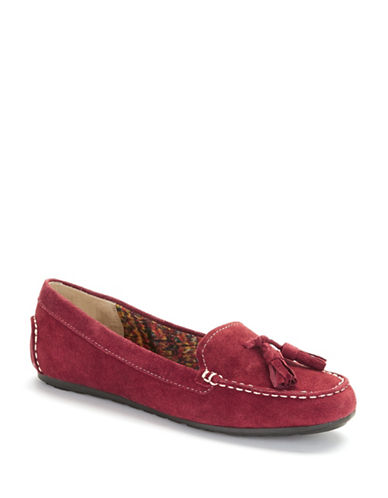 ANNE KLEINSyver Suede Loafers