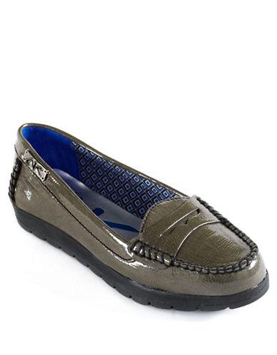 ANNE KLEINZabian Patent Moc Toe Loafers