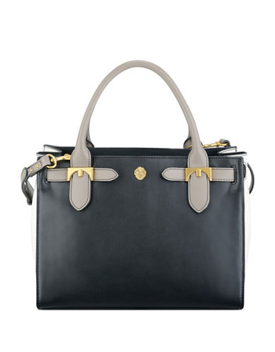 anne klein female jessica small nappa satchel