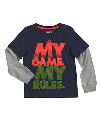 ADIDAS Boys 2-7 My Game My Rules Tee