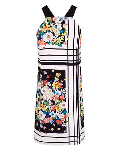 ALI ROPlaced Floral Print Sheath Dress