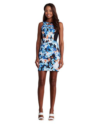 Shop Donna Morgan online and buy Donna Morgan Floral Print Sheath Dress dress online