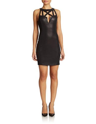 Shop Guess online and buy Guess Metallic Cutout Dress dress online