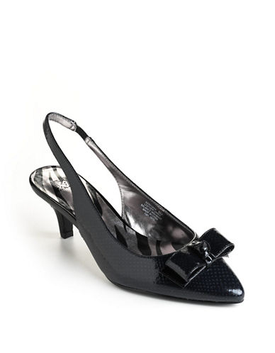 ANNE KLEIN Rexana Leather Sling-Back Pumps