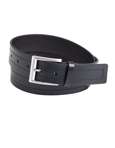 HUGO BOSSDouble-Stitch Leather Belt