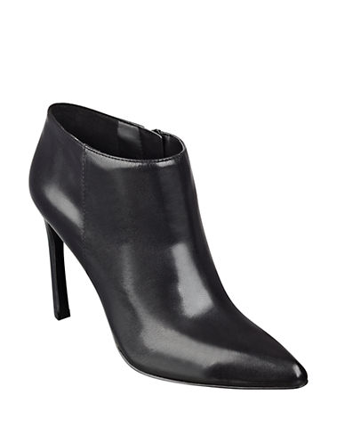 NINE WEST Sheelah Leather Ankle Boots