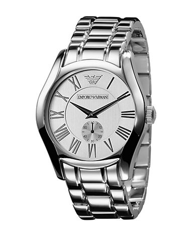 EMPORIO ARMANIMens Classic Stainless Steel Watch