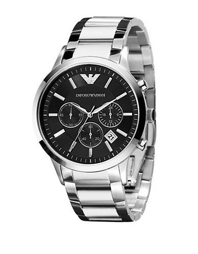 EMPORIO ARMANIMens Stainless Steel Chronograph Watch