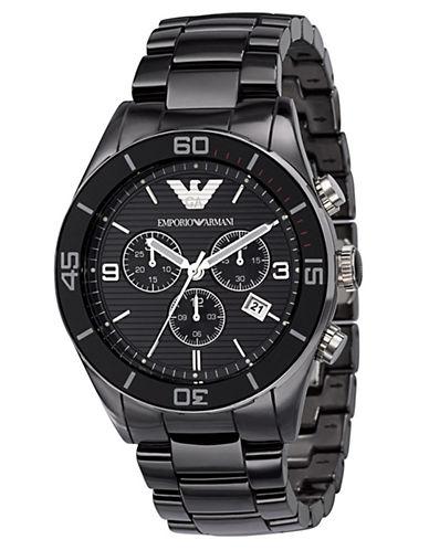 EMPORIO ARMANIMens Black Chronograph Watch