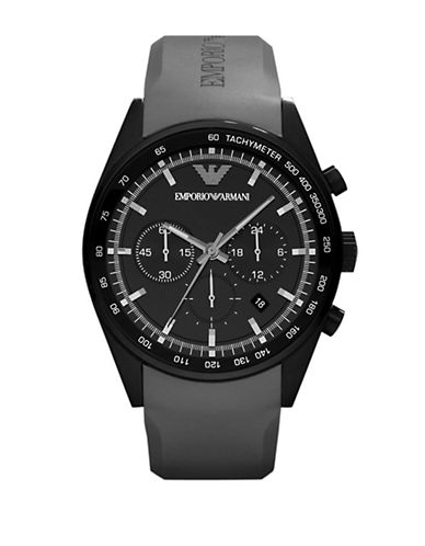 EMPORIO ARMANIMens Sportivo Black Stainless Steel Watch