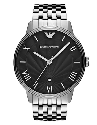EMPORIO ARMANIMens Silver Stainless Steel Chronograph Watch