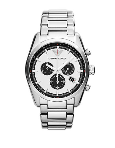 EMPORIO ARMANIMens Stainless Steel Chronograph Bracelet Watch