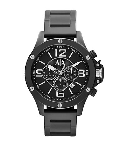 ARMANI EXCHANGEBlack Ion Plated Stainless Steel Chronograph Watch