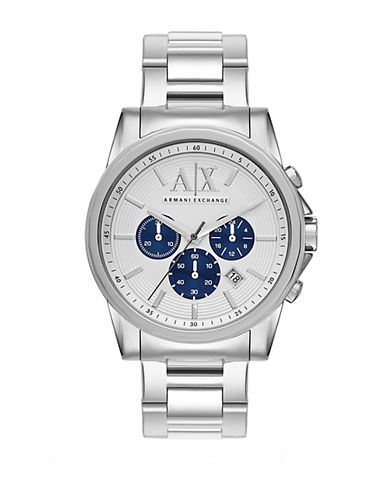 ARMANI EXCHANGE Mens Stainless Steel Chronograph Watch with Contrasting Subdials