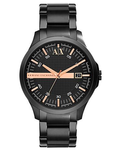ARMANI EXCHANGEMens Black Plated Stainless Steel Watch