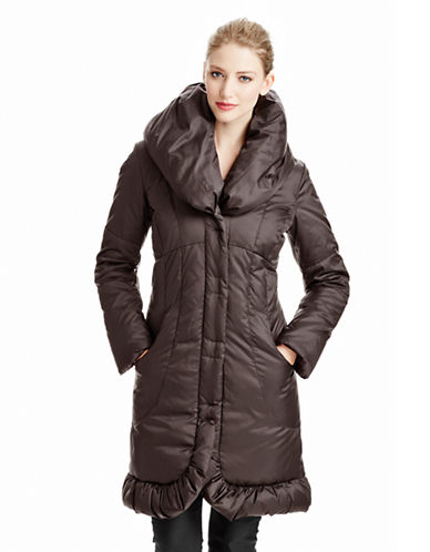 T. Tahari Pillow Collar Down Jacket