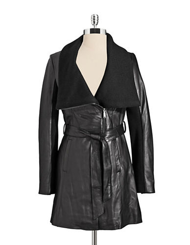 ELIE TAHARILeather Trench