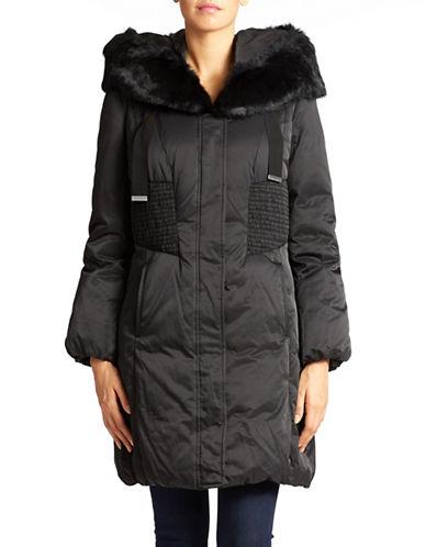 ELIE TAHARIFur Accented Puffer Coat