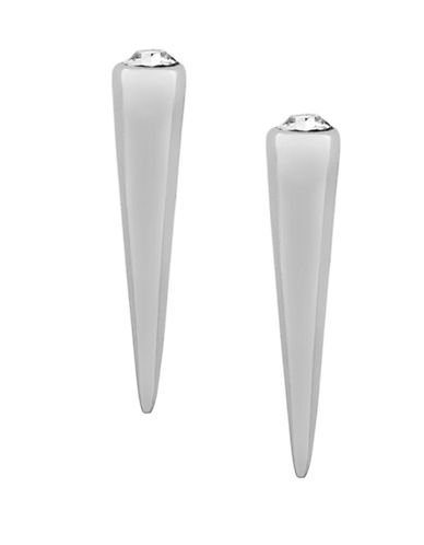 BCBGENERATIONSilver-Tone Spike Earrings with Crystal Stones