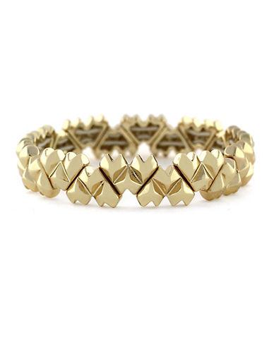 BCBGENERATIONGold-Tone Pointy Heart Stretch Bracelet
