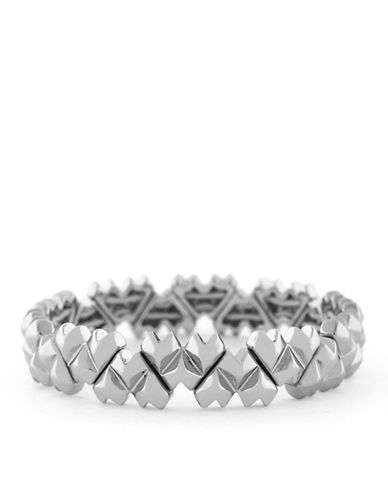 BCBGENERATIONSilver-Tone Pointy Heart Stretch Bracelet