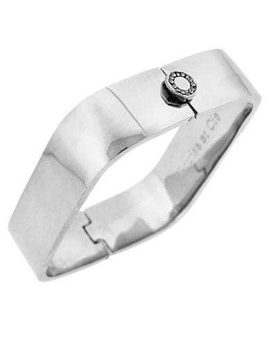 LOUISE ET CIESilver Tone Square Bangle Bracelet