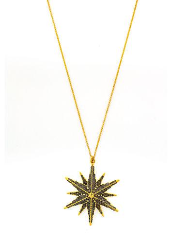 LOUISE ET CIEGold Tone Starburst Pendant Necklace