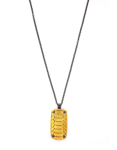 VINCE CAMUTO Two Tone Snake Pendant Necklace