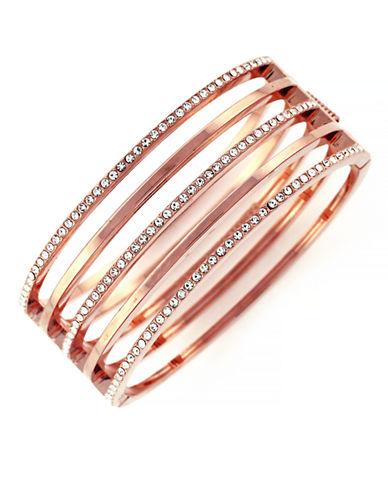 VINCE CAMUTORose Goldtone and Crystal Stacked Bangle Bracelet