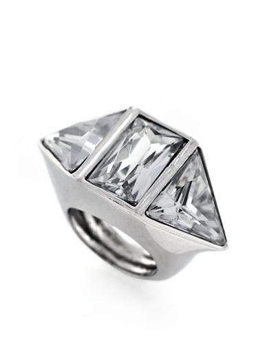 VINCE CAMUTOSilver Tone and Geometric Stone Ring