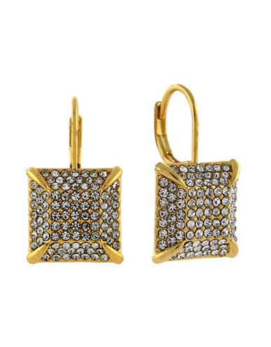 VINCE CAMUTO Gold Tone Glitz Square Drop Earrings