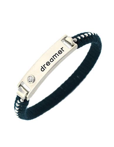 BCBGENERATIONDreamer Silver Tone and Thread Bangle Bracelet