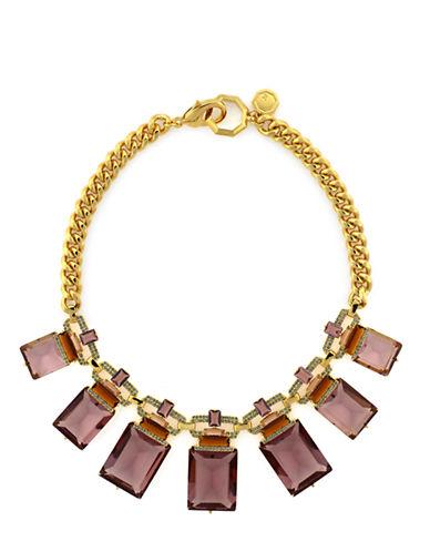LOUISE ET CIEGold-Tone and Square Stone Drama Necklace