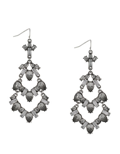 BCBGENERATION Silver-Tone and Mixed Stone Chandelier Drop Earrings