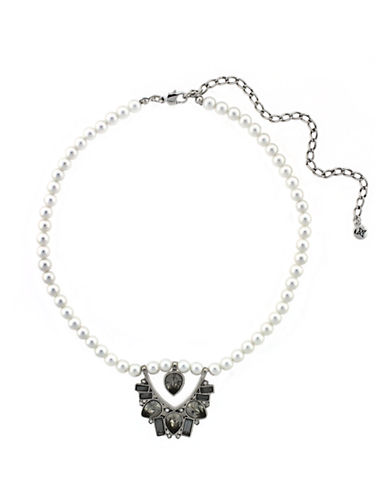 BCBGENERATION Faux Pearl Choker Necklace