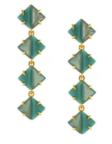 Vince Camuto Gold-Plated Linear Drop Earrings