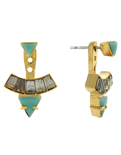 Vince Camuto Gold-Plated Mixed Stone Drop Earrings