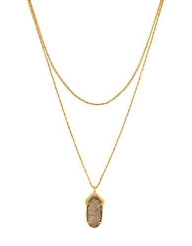 Vince Camuto Iridescent Charm Double Necklace