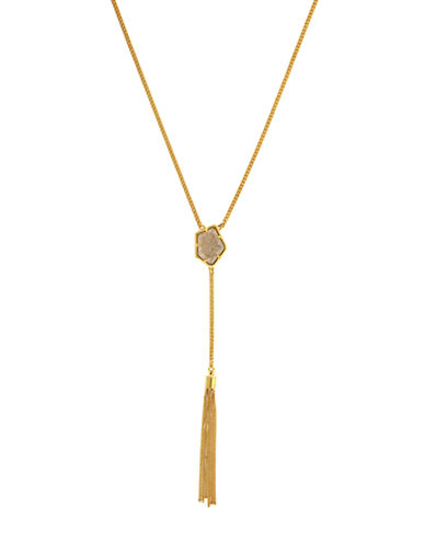 Vince Camuto Iridescent Charm Y Tassel Necklace