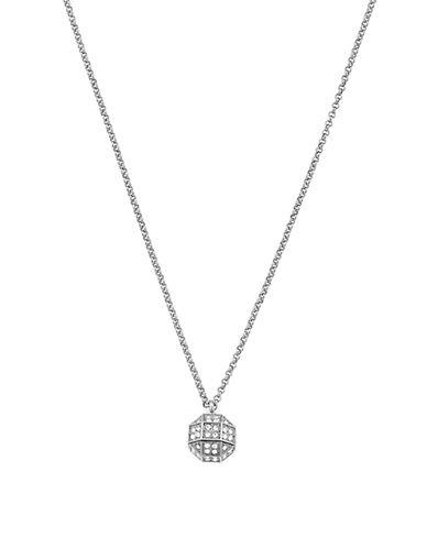 Louise Et Cie Stone Metal Silvertone Pendant Necklace