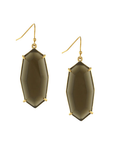 LOUISE ET CIE Gold-Plated Stone Drop Earrings