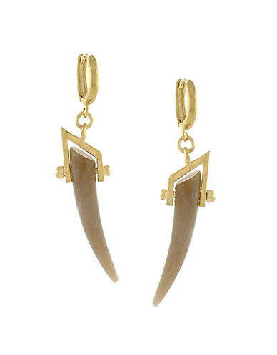 VINCE CAMUTO Gold-Plated Horn Drop Earrings