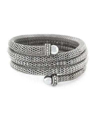 BCBGENERATIONCrystal Coil Cuff Bracelet